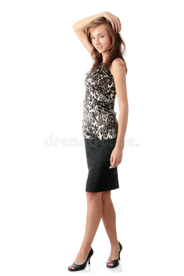 Young elegant woman royalty free stock image