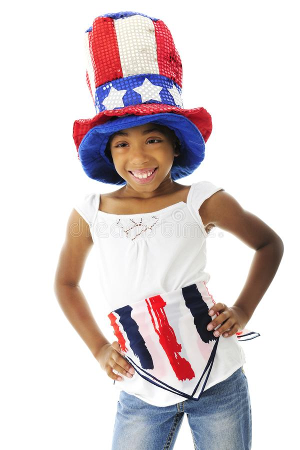 Elementary Patriot royalty free stock image