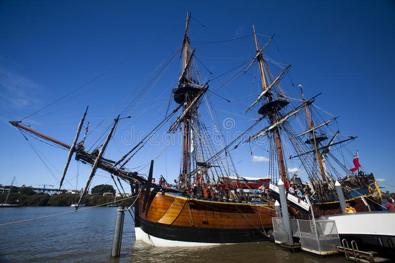 Young Endeavour at port stock images