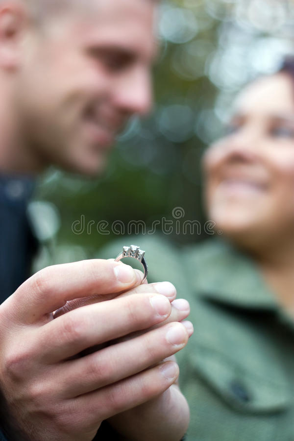 Young Engaged Couple stock photography