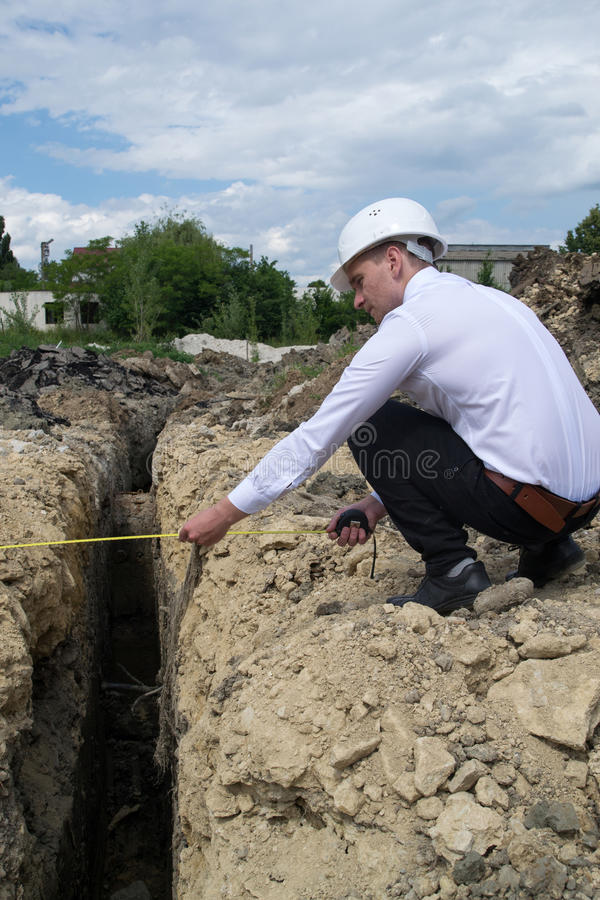 Young engineer on site royalty free stock photos