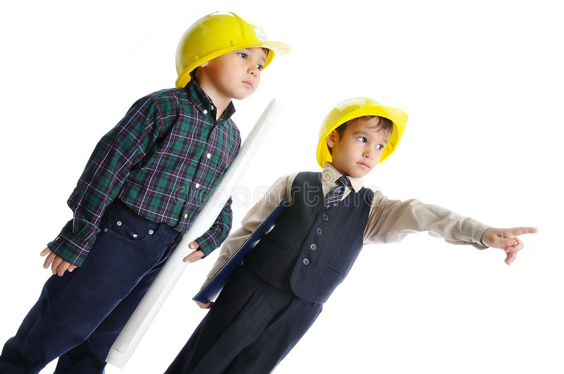 Young engineers stock images