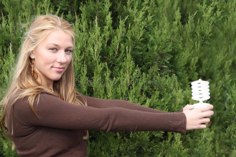 Young environmentalist girl stock images