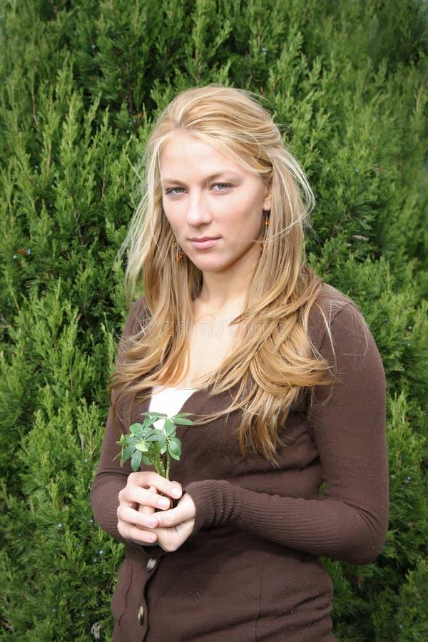 Young environmentalist girl stock photo