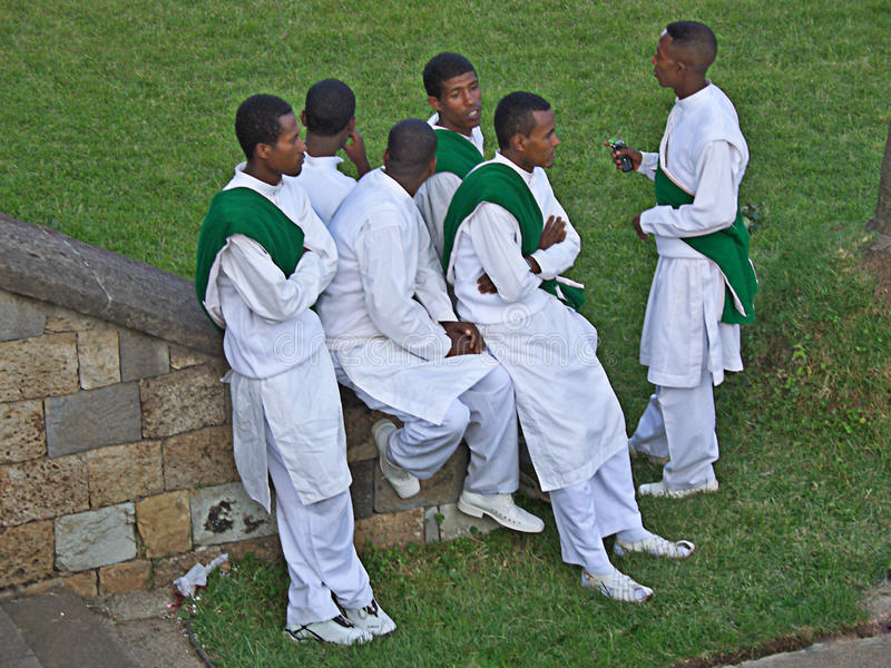 Young ethiopian men, Africa stock photos
