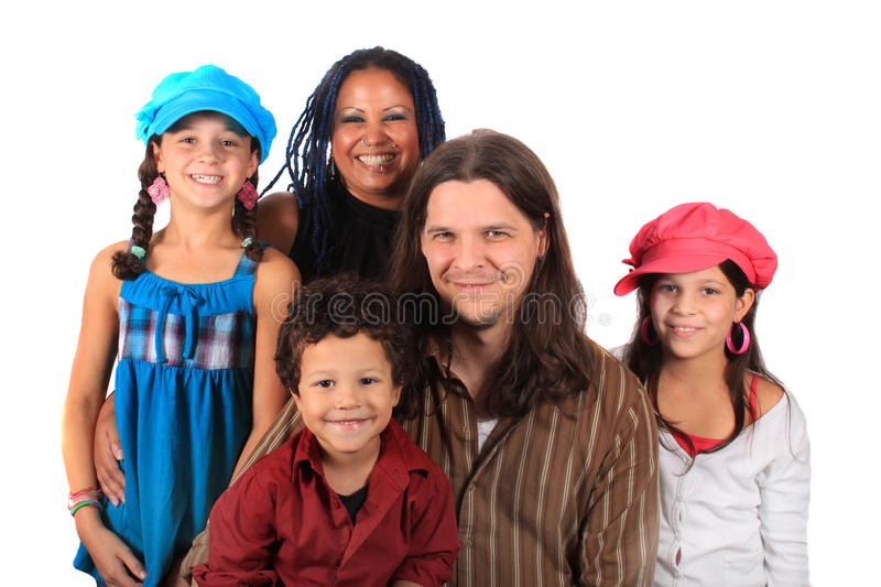 Young ethnic family royalty free stock photography