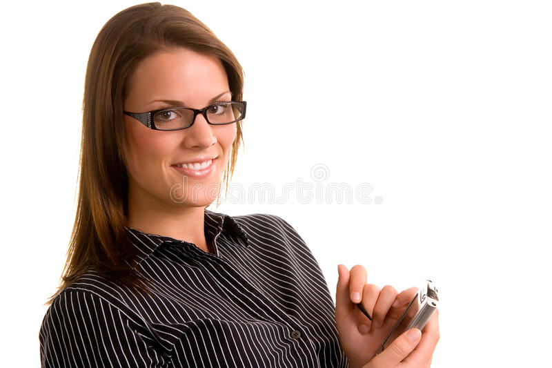 Young Executive with PDA royalty free stock image