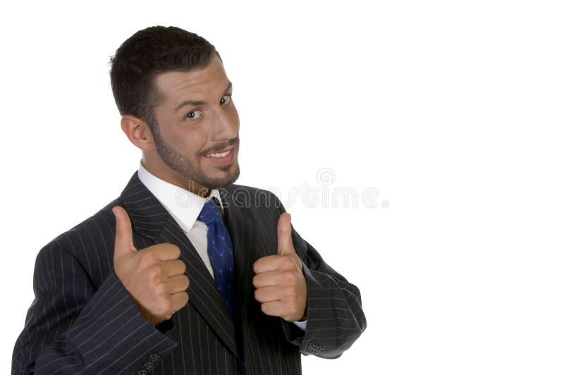 Young Executive Wishing Good Luck Stock Photography