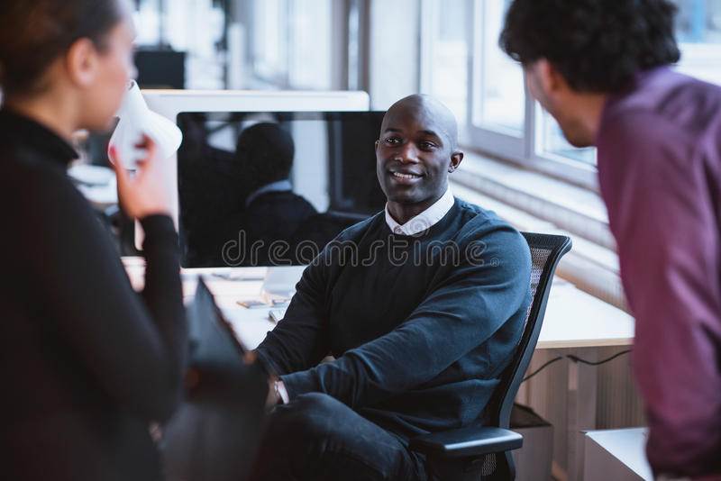 Young executives at work royalty free stock photography