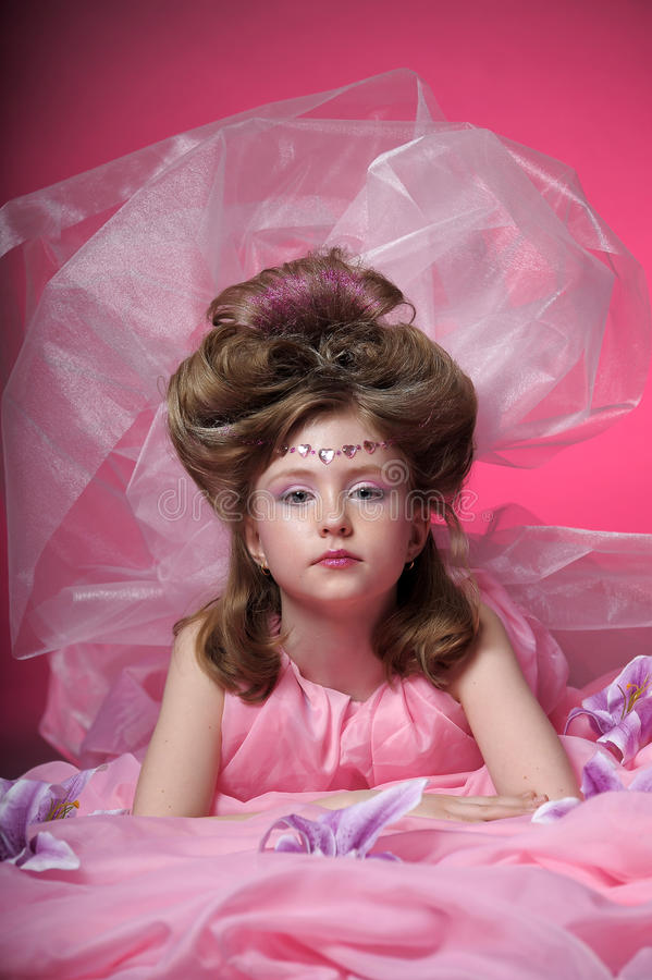 A young fairy in pink