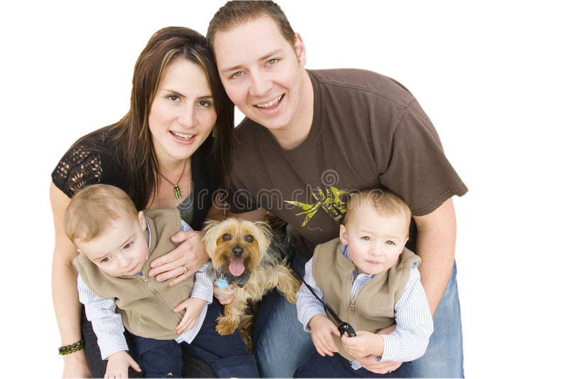 Download Young family stock image. Image of isolated, four, parenthood - 1769455