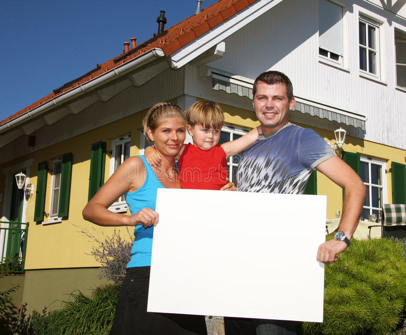 Download Young family stock photo. Image of person, house, children - 6526276