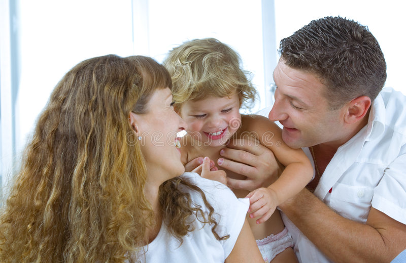 Download Young family stock photo. Image of care, joyful, daughter - 6645372