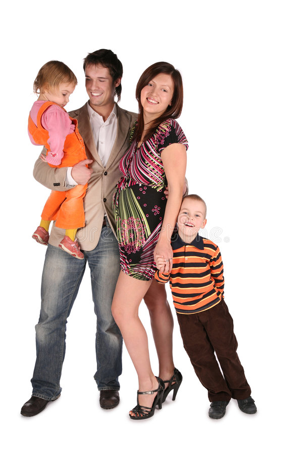 Young family with children 2. The young family with children 2 stock photography