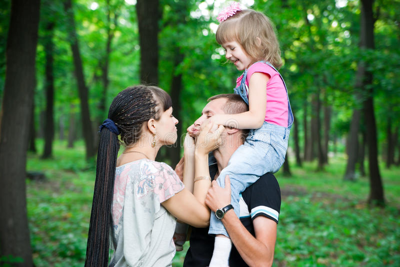 Young family royalty free stock image