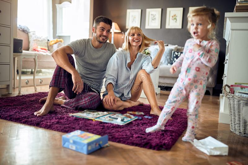 Young family happy together stock photography