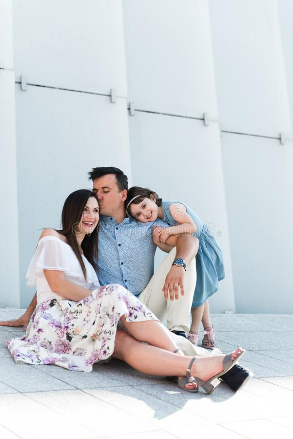 Portrait of loving family concept. Always happy together royalty free stock photography