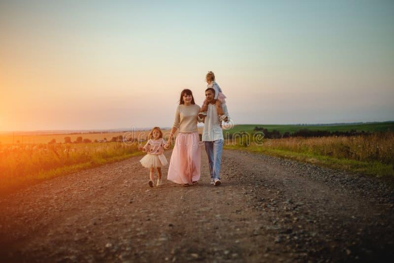 Young family outdoor royalty free stock photos