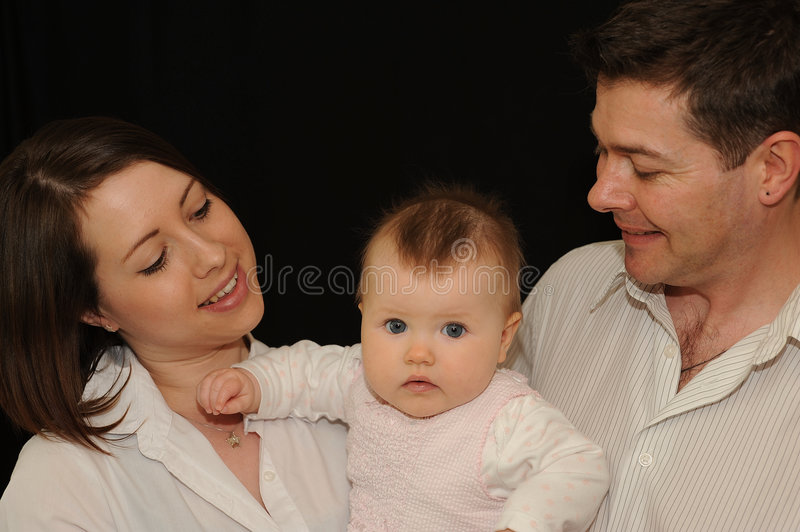 Young Family Portrait royalty free stock photo