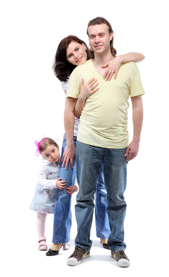Download Young Family Are Standing In Embrace Stock Photo - Image: 18848404