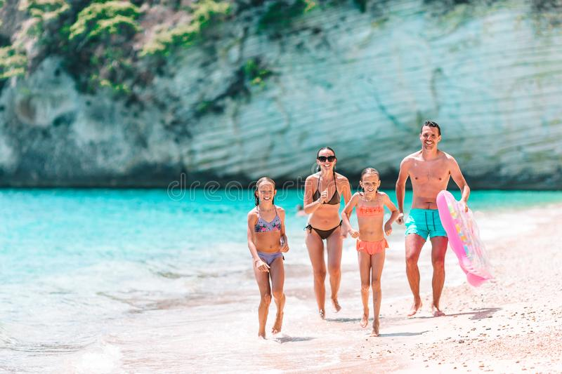Young family on vacation have a lot of fun royalty free stock images