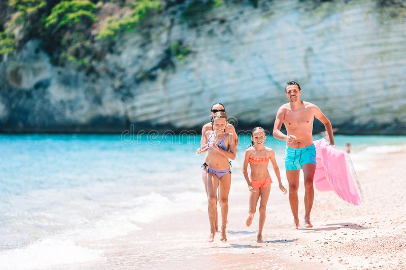 Young family on vacation have a lot of fun royalty free stock photography