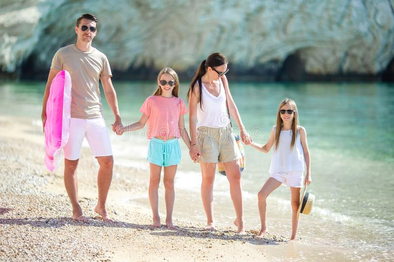 Young family on vacation have a lot of fun royalty free stock photos
