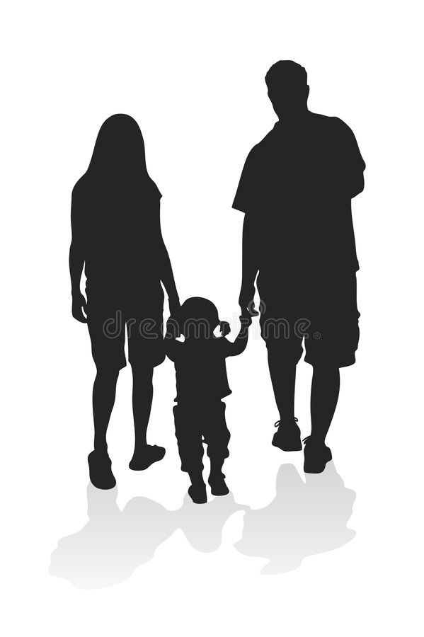 Young Family Vector royalty free illustration