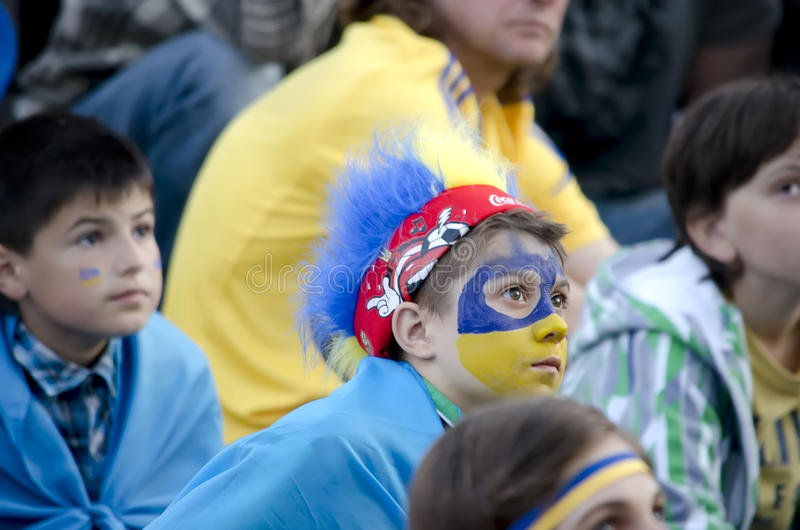 Download Young Fans Watching Football Match Editorial Image - Image: 27997460