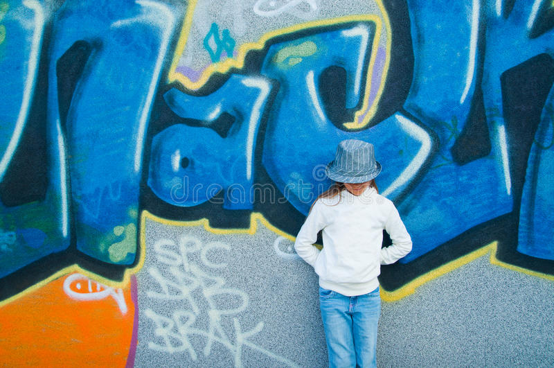 A young fashion-girl. royalty free stock image