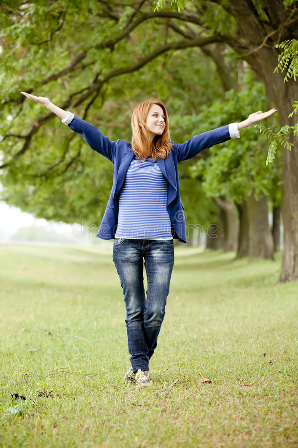 Free Young Fashion Girl At Spring Outdoor. Royalty Free Stock Photo - 24952975