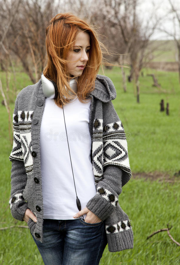 Download Young Fashion Girl With Headphones Stock Photo - Image: 24366002