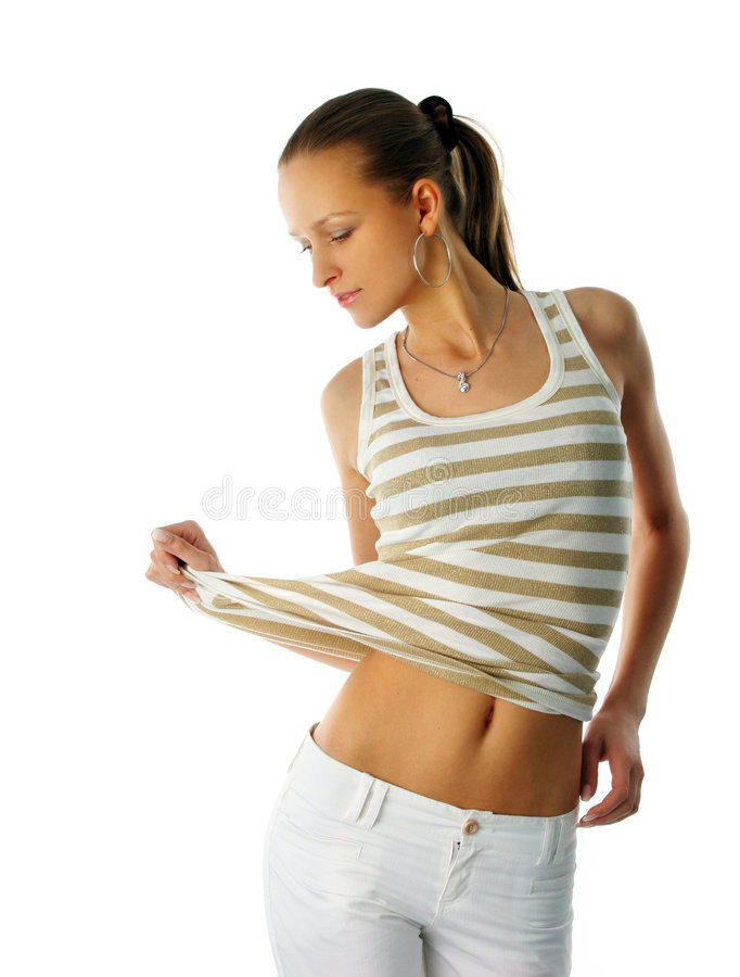 Download Young fashion girl posing stock photo. Image of isolated - 2302840