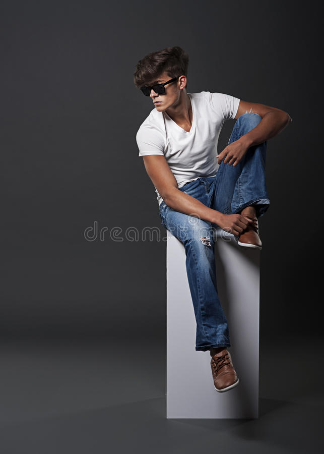 Young fashion man stock photo