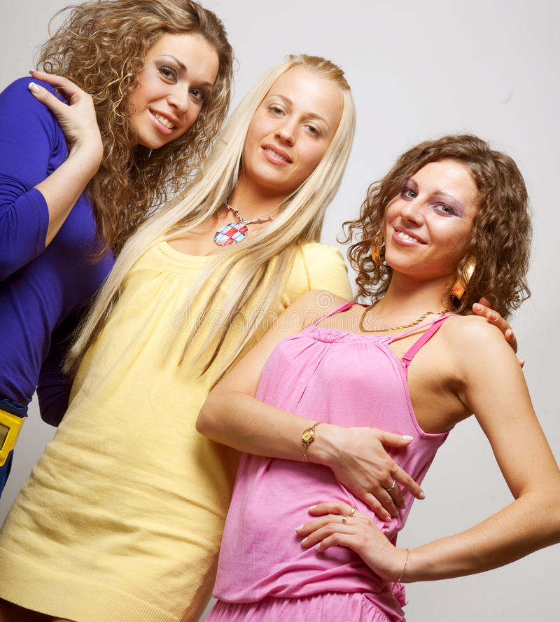 Young fashion models royalty free stock photo