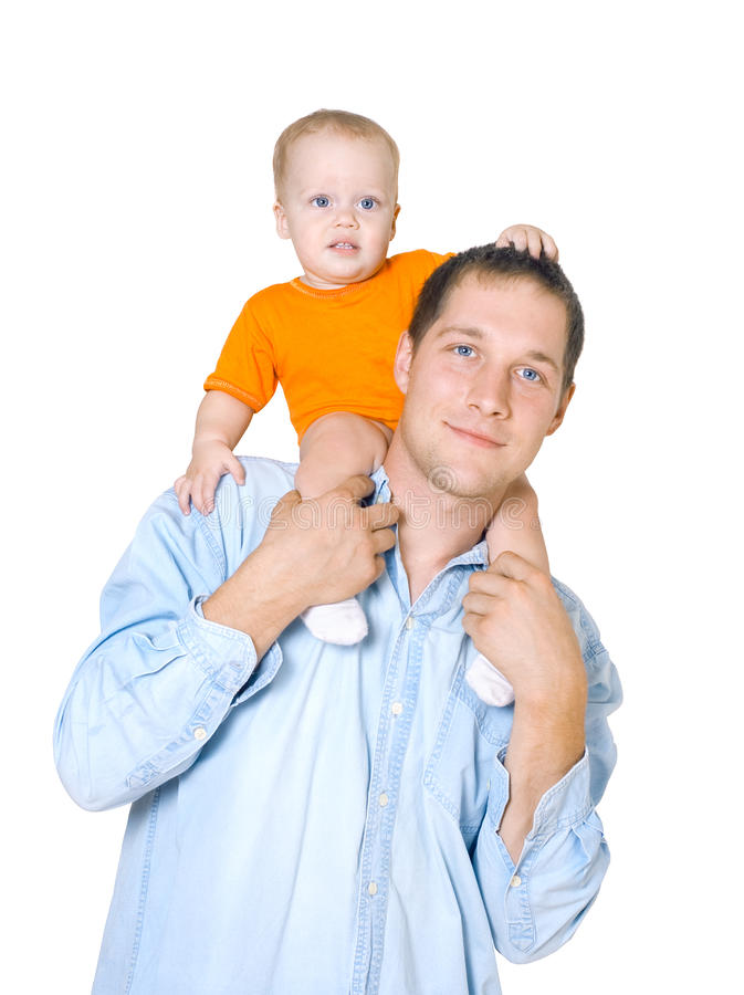 The Young Father Stock Image