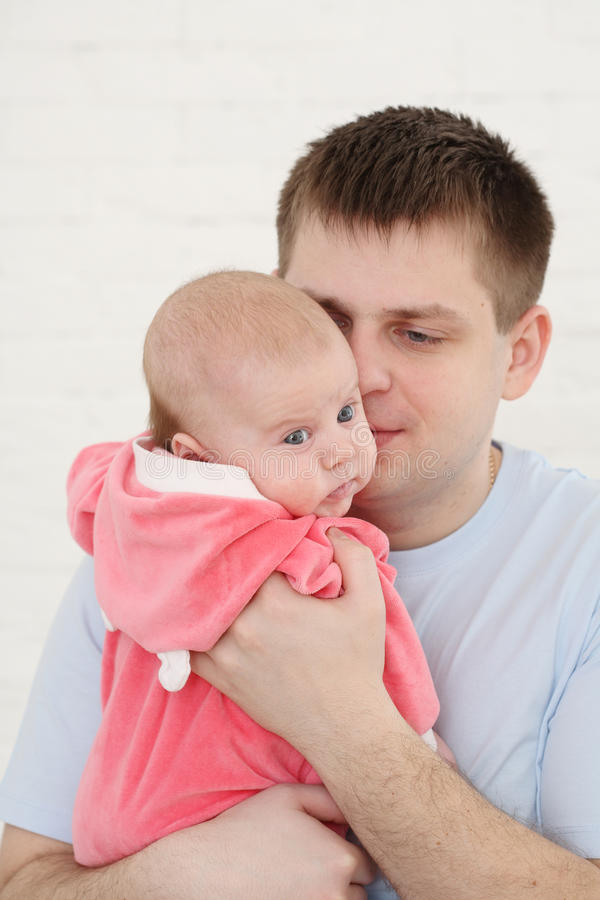 Young father stock photo
