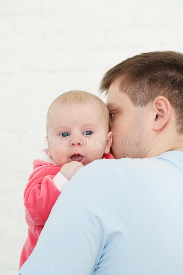 Young father royalty free stock photo