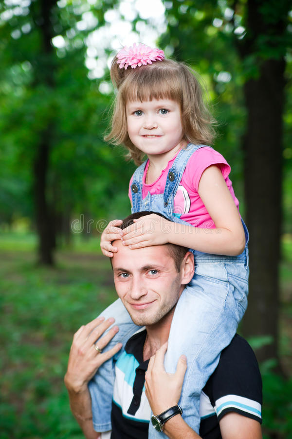 Young father with child. stock image