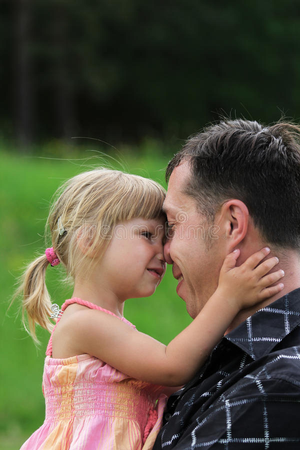 Young Father With His Daughter Stock Photos