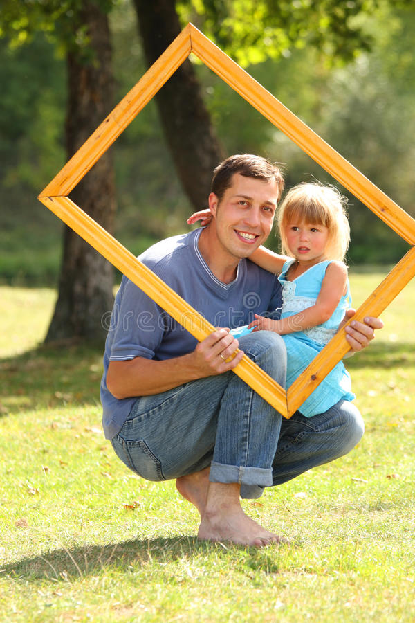 Download Father With His Daughter In The Frame Stock Image - Image: 29746661