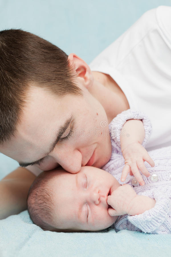 Newborn child royalty free stock photography