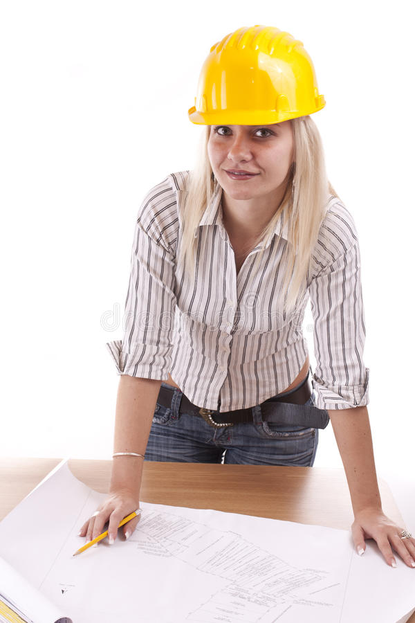 Young female architect stock photography