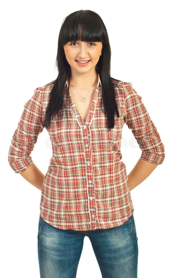 Young Female With Bang Stock Photography