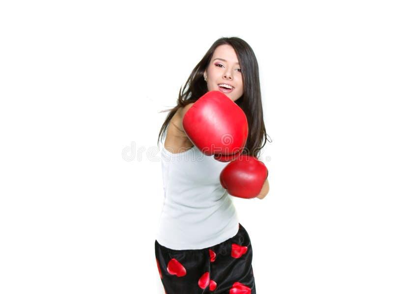 Young female boxer stock photos