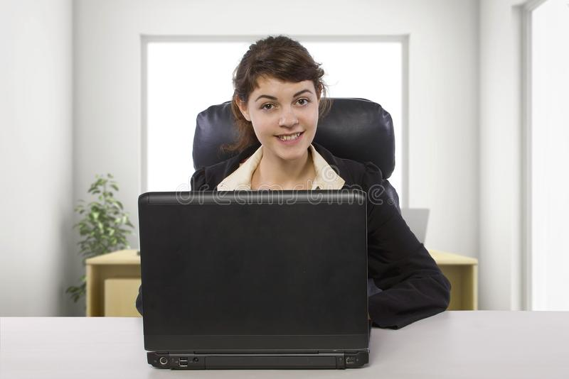 Female Writer Intern in an Office royalty free stock photography
