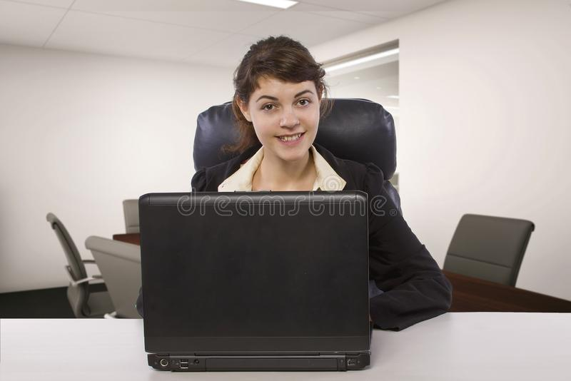 Female Writer Intern in an Office stock photography