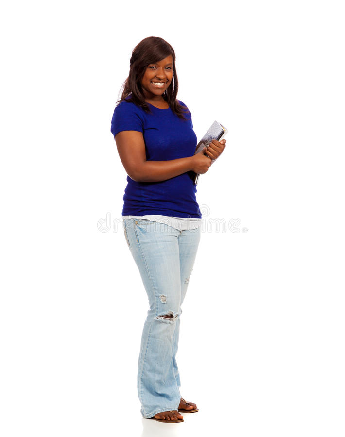 Download Young Female College Student Holding Text Books Stock Photo - Image of student, ethnic: 39506476