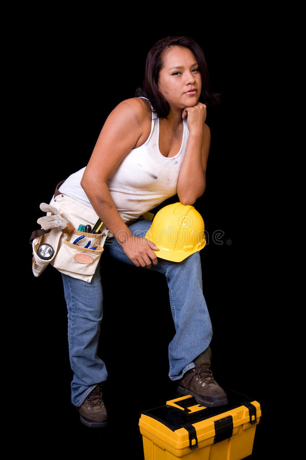 Young Female Construction Worker royalty free stock images