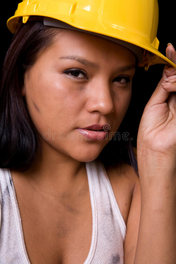 Young Female Construction Worker stock image